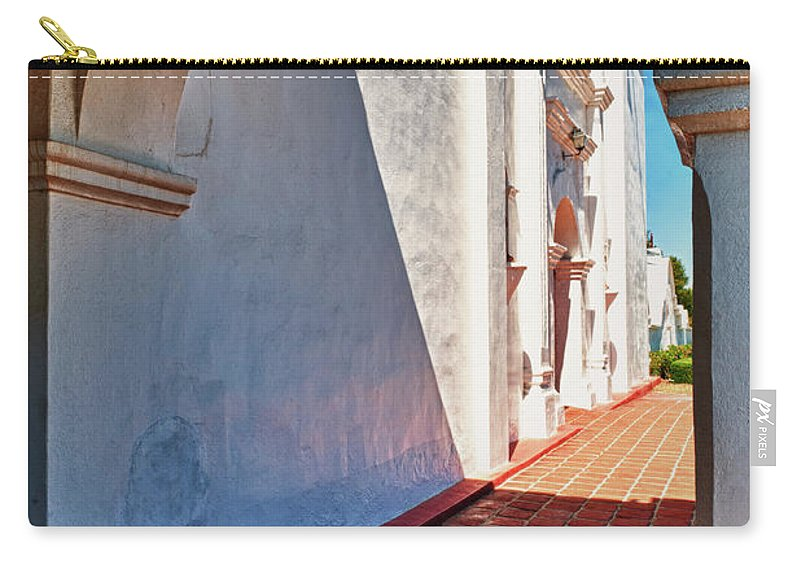 Hdr Carry-all Pouch featuring the photograph San Luis Rey Courtyard by Sandra Bronstein