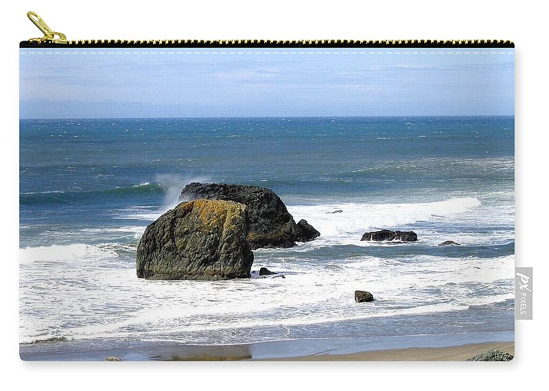 Sand And Sea Carry-all Pouch featuring the photograph Sand And Sea 19 by Will Borden