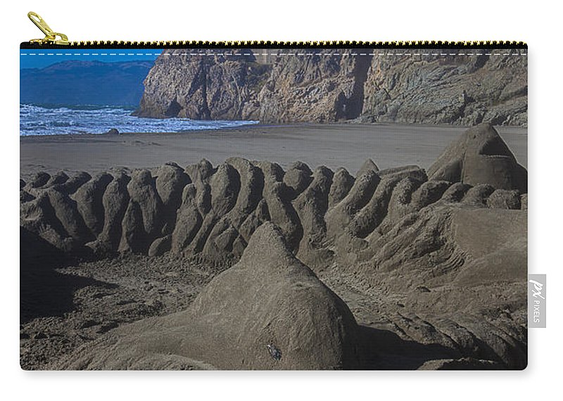 Dolphin Carry-all Pouch featuring the photograph Sand Dolphin by Garry Gay