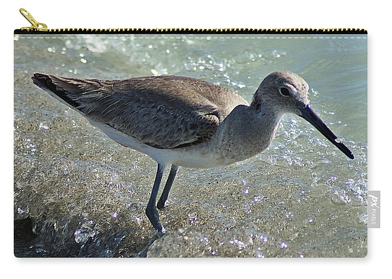 Sandpiper Carry-all Pouch featuring the photograph Sandpiper I by Joe Faherty