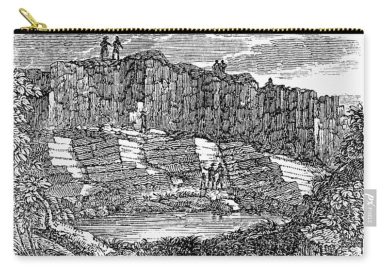 1840 Carry-all Pouch featuring the photograph Sandstone Quarry, 1840 by Granger