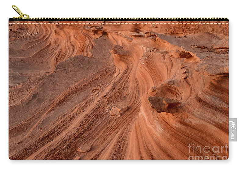 Little Finland Carry-all Pouch featuring the photograph Sandstone Waves Little Finland by Bob Christopher