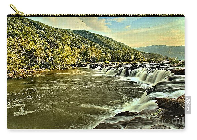 Sandstone Falls Carry-all Pouch featuring the photograph Sanstone At Dusk by Adam Jewell