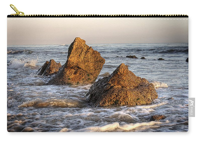 Rocks Carry-all Pouch featuring the photograph Santa Barbara 11 by Jessica Velasco