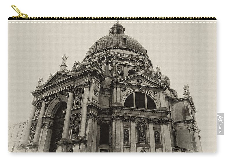 Santa Maria Della Salute Carry-all Pouch featuring the photograph Santa Maria Della Salute Venice by Bill Cannon