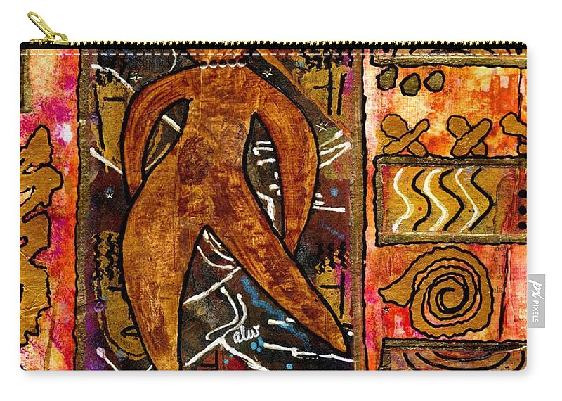 Acrylic Carry-all Pouch featuring the mixed media Sassy Sistah by Angela L Walker