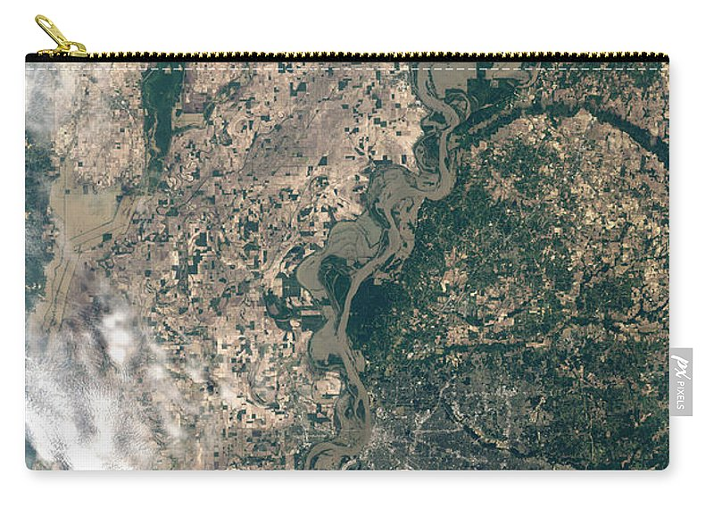 Mississippi River Carry-all Pouch featuring the photograph Satellite Image Of Flood Waters by Stocktrek Images
