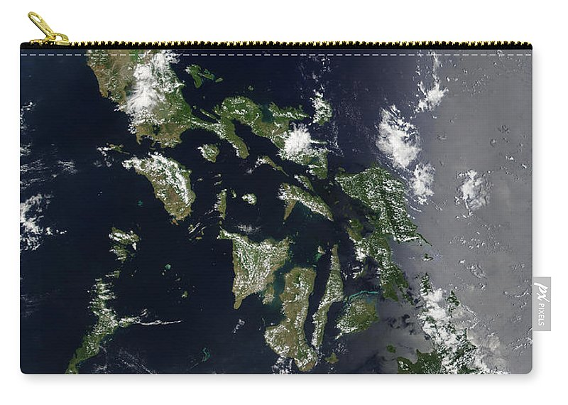 Mindanao Carry-all Pouch featuring the photograph Satellite Image Of The Philippines by Stocktrek Images