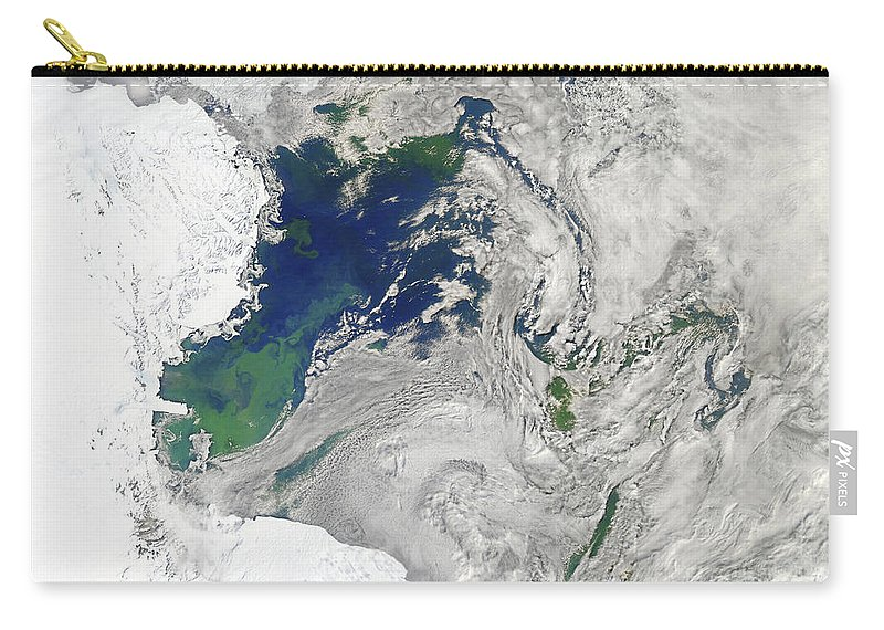 Antarctica Carry-all Pouch featuring the photograph Satellite View Of The Ross Sea by Stocktrek Images