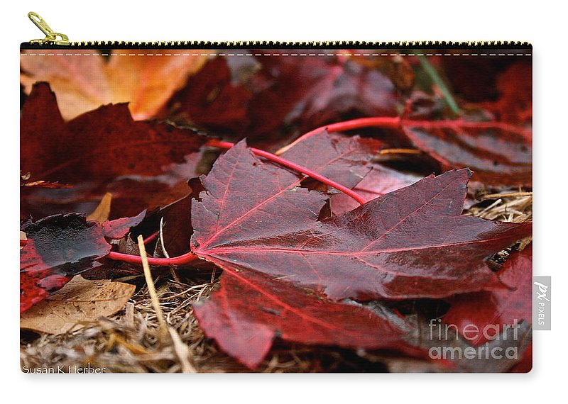 Outdoors Carry-all Pouch featuring the photograph Saturated Maroon by Susan Herber