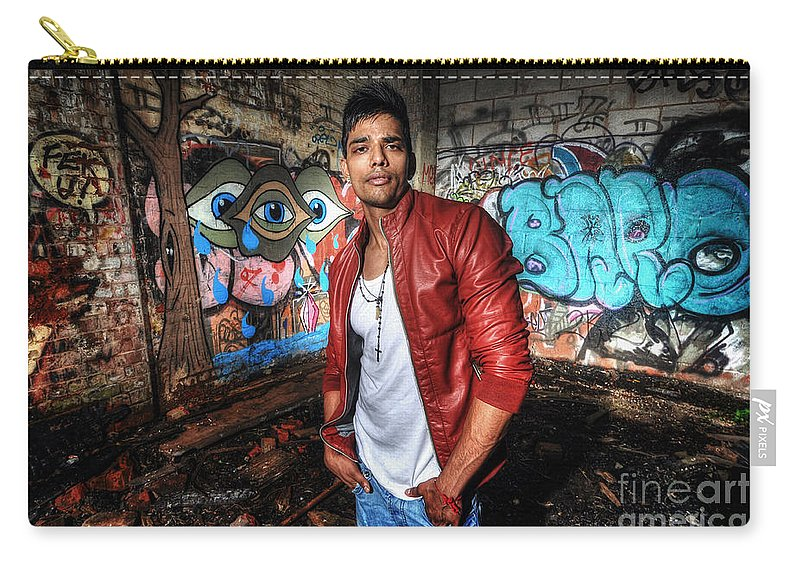 Yhun Suarez Carry-all Pouch featuring the photograph Saurabh4 by Yhun Suarez