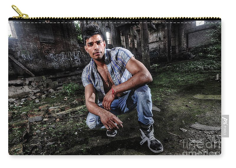 Yhun Suarez Carry-all Pouch featuring the photograph Saurabh6 by Yhun Suarez