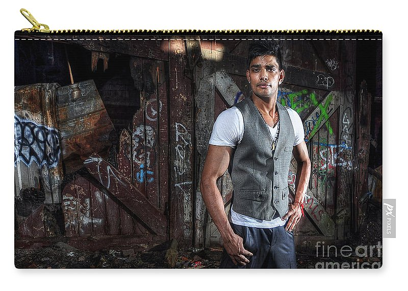 Yhun Suarez Carry-all Pouch featuring the photograph Saurabh8 by Yhun Suarez