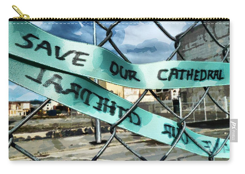 Ribbon Carry-all Pouch featuring the photograph Save Our Cathedral by Steve Taylor