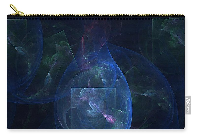 Blue Abstract Carry-all Pouch featuring the digital art Saving Time by Christy Leigh
