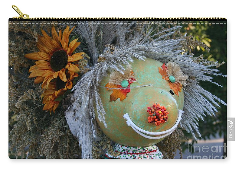 Fall Carry-all Pouch featuring the photograph Scarecrow by Susan Herber
