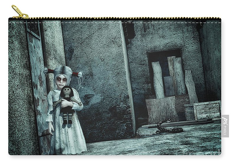 3d Carry-all Pouch featuring the digital art Scary Place by Jutta Maria Pusl