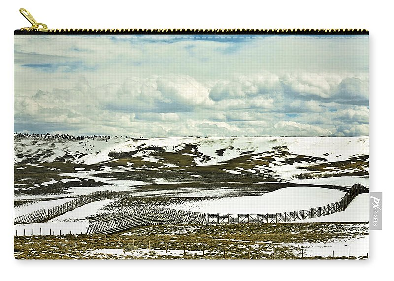 Scenic Carry-all Pouch featuring the photograph Scenic Wyoming by Marilyn Hunt