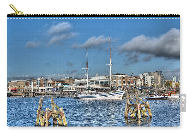 Next Wave Carry-all Pouch featuring the photograph Schooner 10 by Steve Purnell