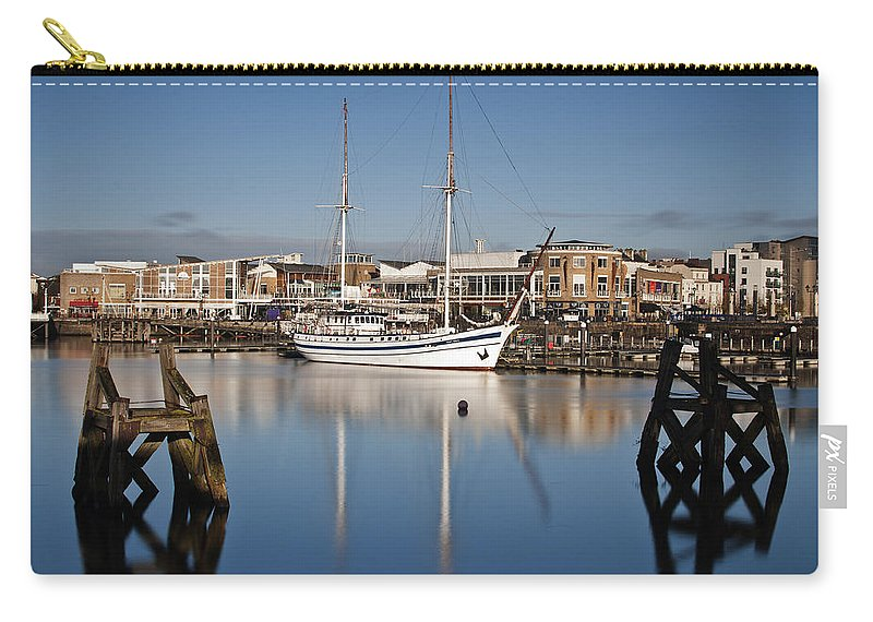 Next Wave Carry-all Pouch featuring the photograph Schooner 7 by Steve Purnell