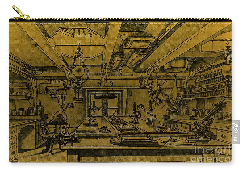 1800s Carry-all Pouch featuring the photograph Scientific Expeditions by Science Source