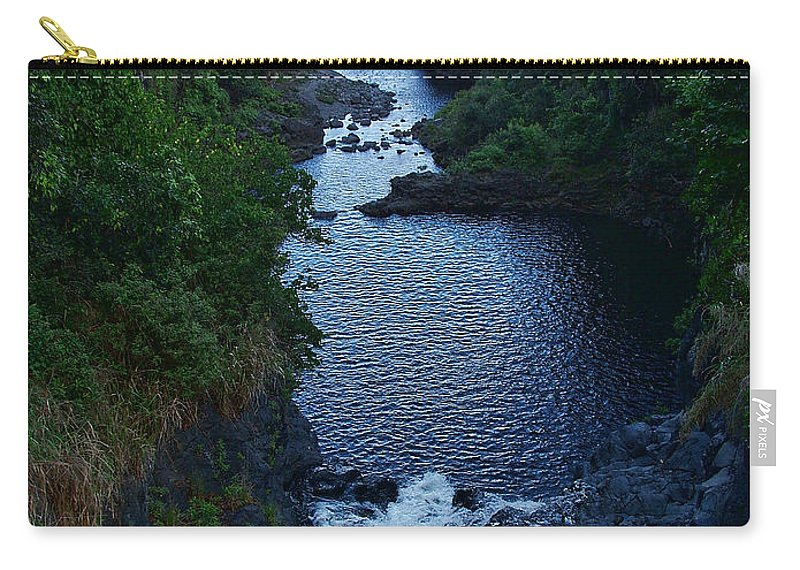 Scripture And Picture Psalm 24:2 Carry-all Pouch featuring the photograph Scripture And Picture Psalm 24 2 by Ken Smith