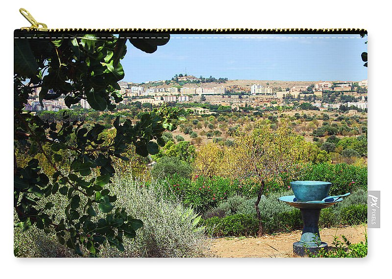 Sculpture Carry-all Pouch featuring the photograph Sculpture Garden In Sicily 2 by Madeline Ellis
