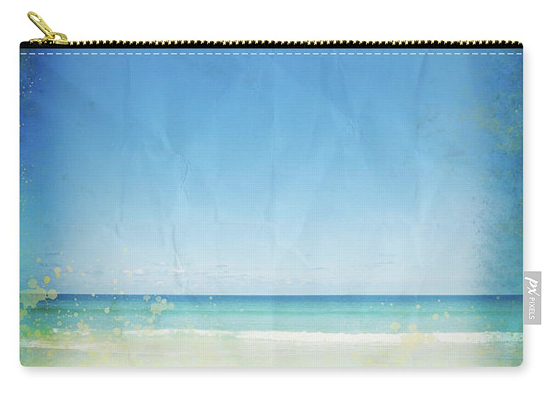 Abstract Carry-all Pouch featuring the photograph Sea And Sky On Old Paper by Setsiri Silapasuwanchai