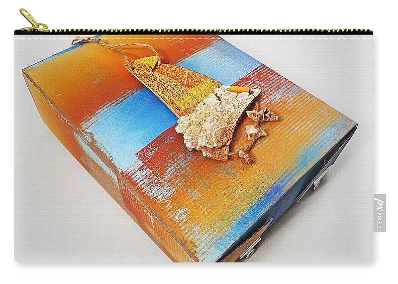 Sculpture Carry-all Pouch featuring the painting Sea Change Box by Charles Stuart