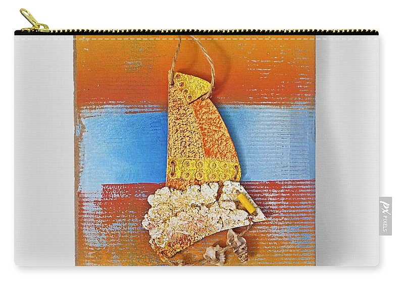 Sculpture Carry-all Pouch featuring the painting Sea Change by Charles Stuart