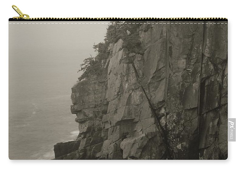 Cliff Carry-all Pouch featuring the photograph Sea Cliff At Quoddy Head by Roupen Baker