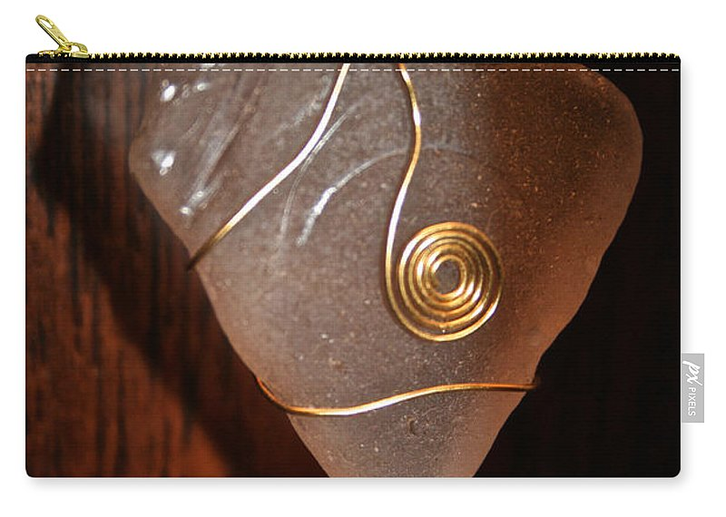 Jewelry Carry-all Pouch featuring the photograph Sea Glass by Susan Herber