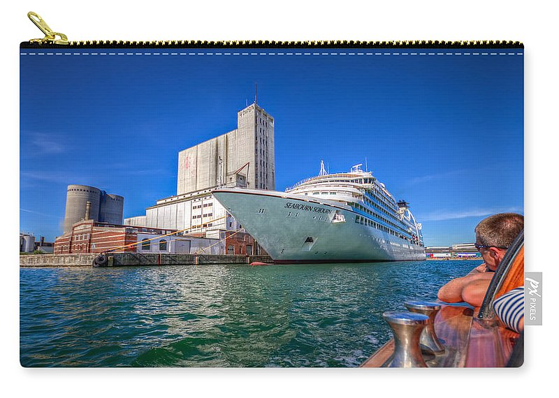 Clare Bambers Carry-all Pouch featuring the photograph Seabourn Sojourn In Copenhagen. by Clare Bambers