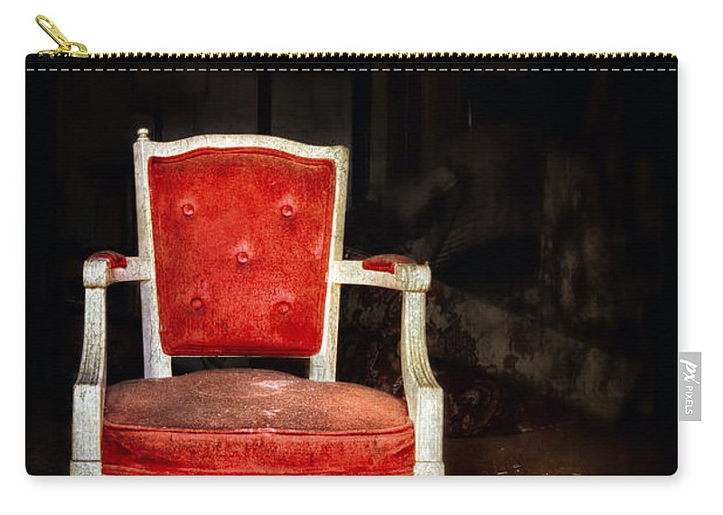 Chair Carry-all Pouch featuring the photograph Search Of Being by Evelina Kremsdorf
