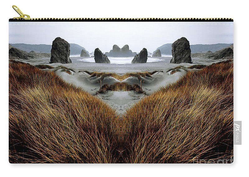 Contest Entry Carry-all Pouch featuring the photograph Seascape 1 by Mike Nellums
