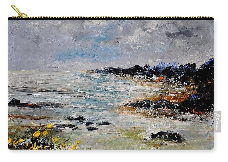 Seascape Carry-all Pouch featuring the painting Seascape 452160 by Pol Ledent