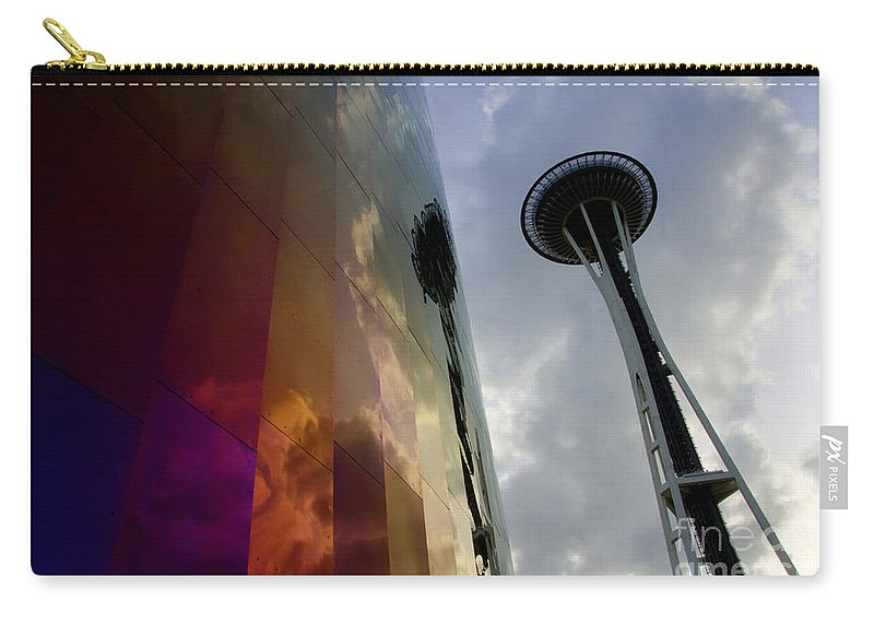Emp Building Carry-all Pouch featuring the photograph Seattle Emp Building 12 by Bob Christopher