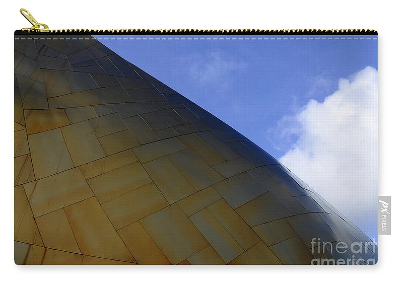 Emp Building Carry-all Pouch featuring the photograph Seattle Emp Building 9 by Bob Christopher