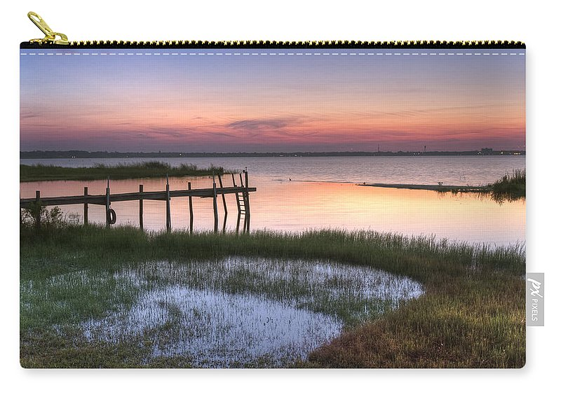 Boats Carry-all Pouch featuring the photograph Sebring Sunrise by Debra and Dave Vanderlaan