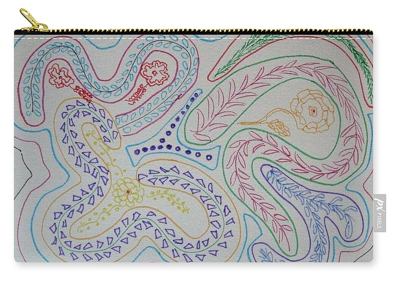 Soul Search Carry-all Pouch featuring the drawing Seek by Sonali Gangane