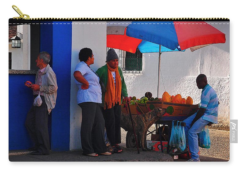 Senor Papaya Carry-all Pouch featuring the photograph Senor Papaya by Skip Hunt