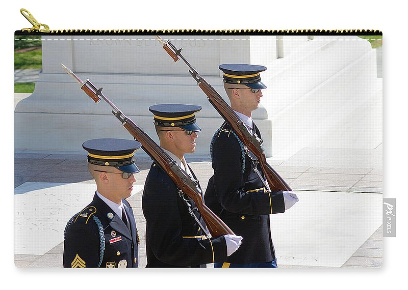 Arlington Carry-all Pouch featuring the photograph Sentinels At The Tomb by Dan Wells