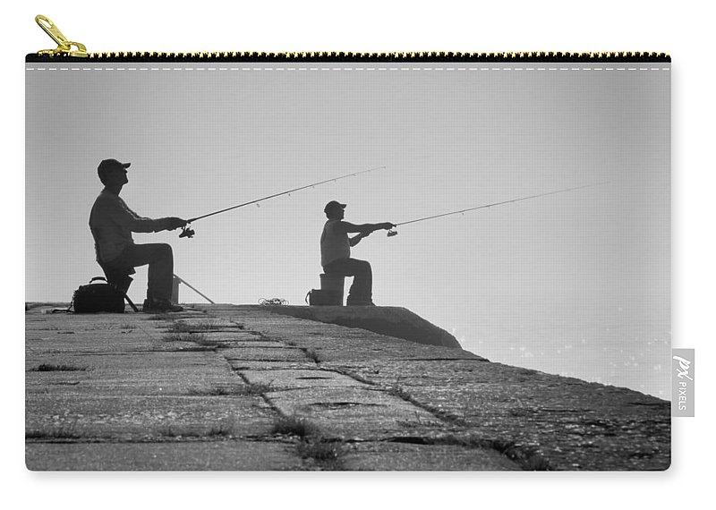 Fishermen Carry-all Pouch featuring the photograph Sentinels - Fishing In The Fog by Bill Pevlor