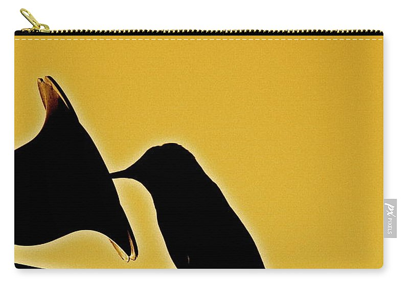 Birds Carry-all Pouch featuring the photograph Sepia Silhouette by Diana Hatcher