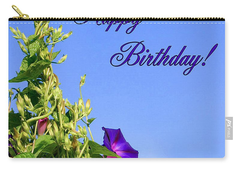Morning Glory Carry-all Pouch featuring the photograph September Birthday by Kristin Elmquist