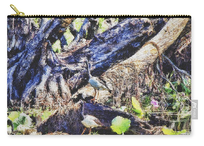 Magpie Geese Carry-all Pouch featuring the photograph Serene Surroundings by Douglas Barnard