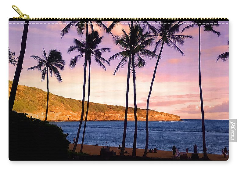 Nature Preserve Carry-all Pouch featuring the photograph Serene Waimea Bay by Shirley Tinkham