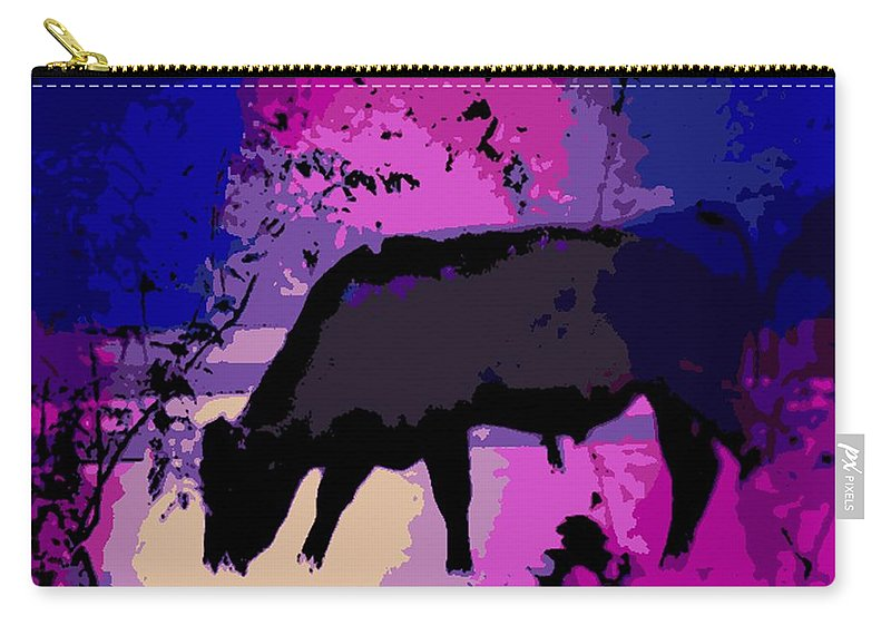 Bull Carry-all Pouch featuring the photograph Serenity by George Pedro