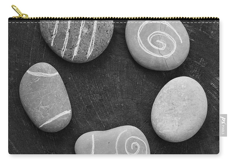 Stones Carry-all Pouch featuring the photograph Serenity Stones by Linda Woods