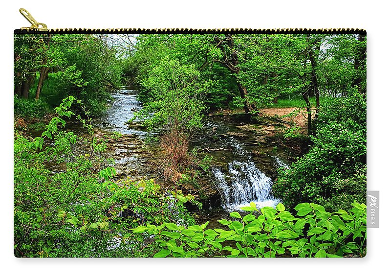 Carry-all Pouch featuring the photograph Serenity With Frame by Michael Frank Jr
